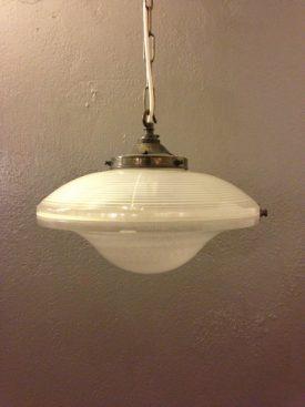 Fully Enclosed 'flying saucer' Holophane shade