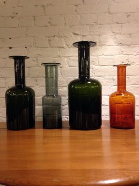 Danish glass flasks