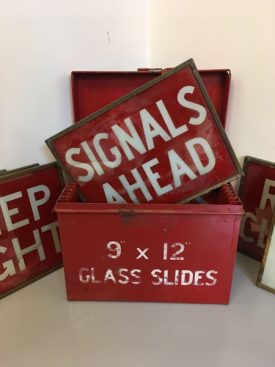 Glass Road Signs