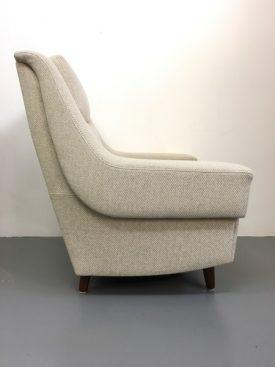 Danish high back armchair