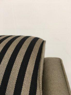 Black & Olive Striped Sofa