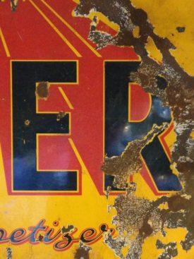 Enameled Steel Tizer sign