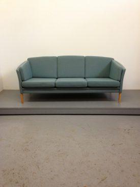 Blue wool sofa
