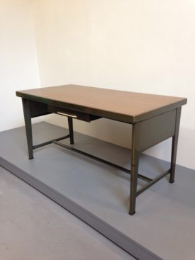 Steel and Walnut Desk