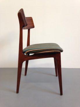 Danish Rosewood Striped Chair