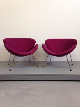 Mauve Orange Slice Chairs
