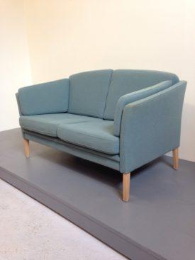 Danish blue wool sofa