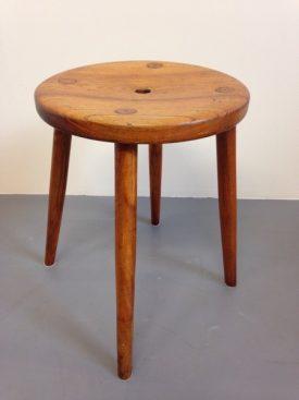 Danish solid oak stool