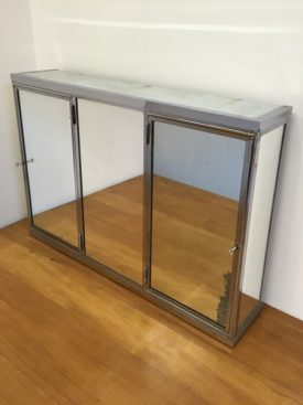 French mirrored cabinet
