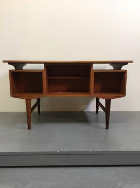 4 drawer Danish teak desk