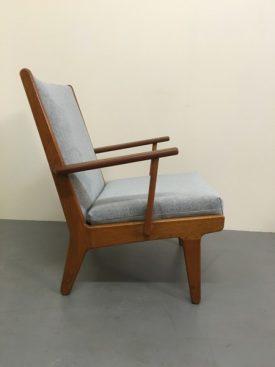 Danish oak lounge chairs
