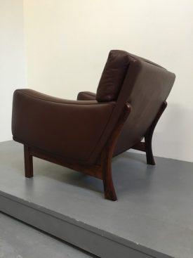 Danish leather arm chair