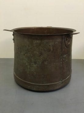 Large Copper Hearth Pot