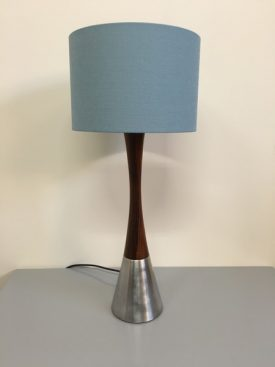 Rosewood and Aluminum Table lamp