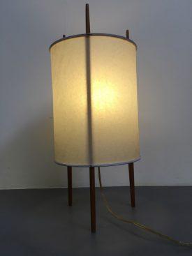 Paper and Teak lamp