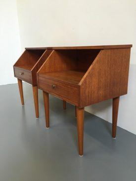 Danish teak bedside tables
