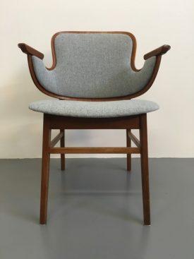 Hans Olsen teak ply shell chair