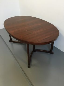 Rosewood extending dining table