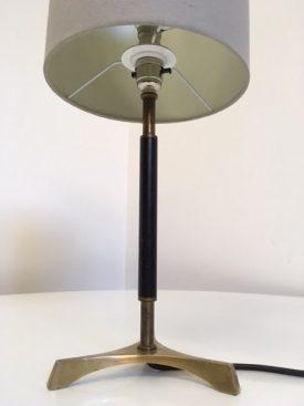 Danish brass table lamp