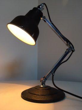Black & chrome task lamp