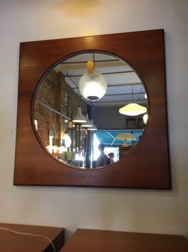 Large Danish circular mirror