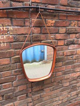 Teak & Leather mirror