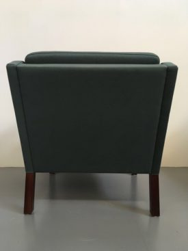 Danish teal armchairs