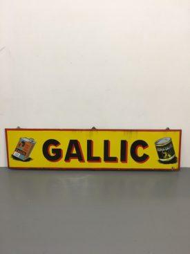 1950's Enamel Gallic Sign