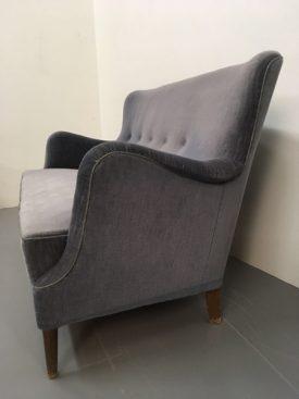 Danish blue love seat