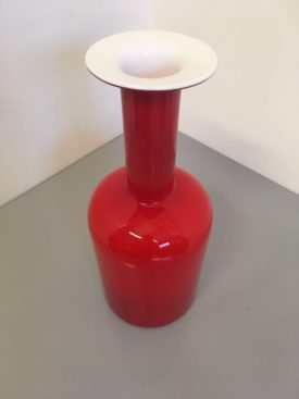 Large Holmegaard Bottle Vase
