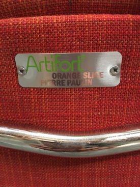 Paulin Orange Slice Chair