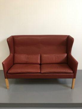 Leather Coupé sofa