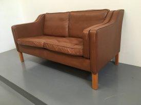 Danish Cognac 2 seat sofa