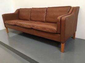 Danish Cognac 3 seat sofa