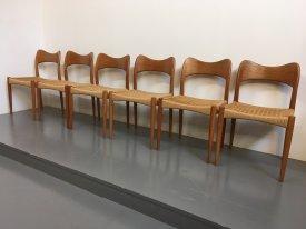 Mogens Kold Teak Dining Chairs