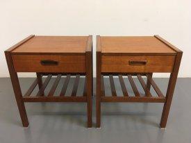 Teak Bedside Tables