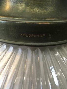 Holophane 3 Part Pendant