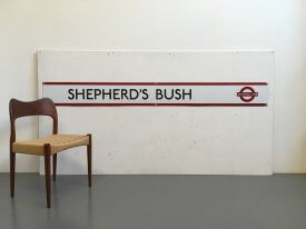 Sheperd's Bush Tube Sign