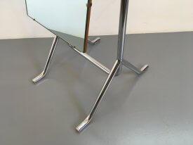 Chromed Steel Cheval Mirror