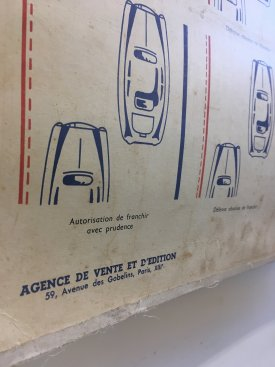 French Road Safety Wall Chart