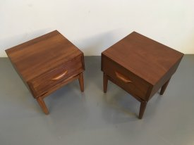 Afromosia Bedside Tables