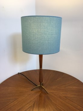 Teak and Brass Table lamp