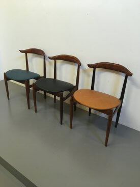 Knud Færch Rosewood Cow Horn Chairs