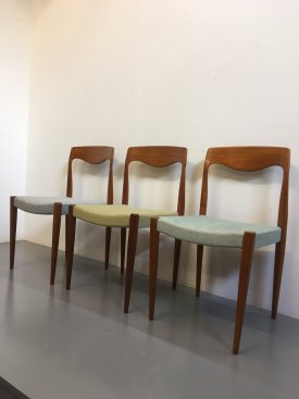 French Teak Chairs
