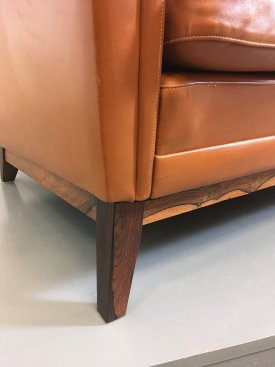 Cognac Leather Sofa