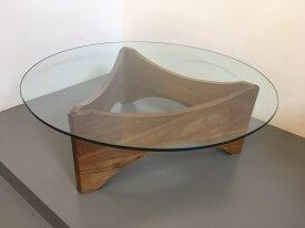 Triangular Base Coffee Table