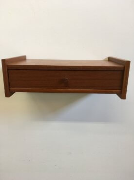 Teak Pull Wall Drawer
