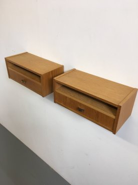 Pair of Oak Wall Drawers