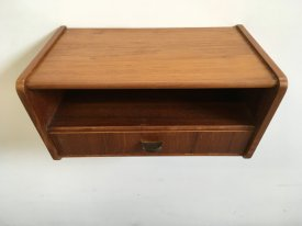 Teak Wall Pocket with Drawer