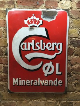 Danish Carlsberg Enamel